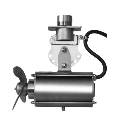 Horizontal submersible mixers with direct drive
