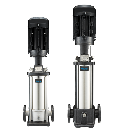 Vertical multistage electric pumps
