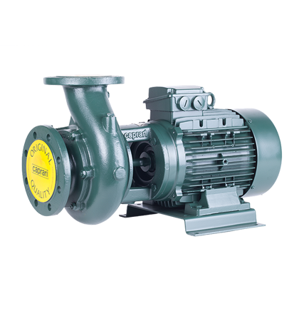 Horizontal monobloc centrifugal electric pumps